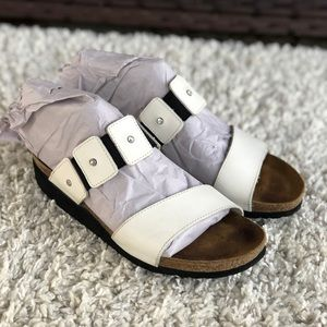 Naot Ashley Leather Slide Rhinestone Sandals EUC